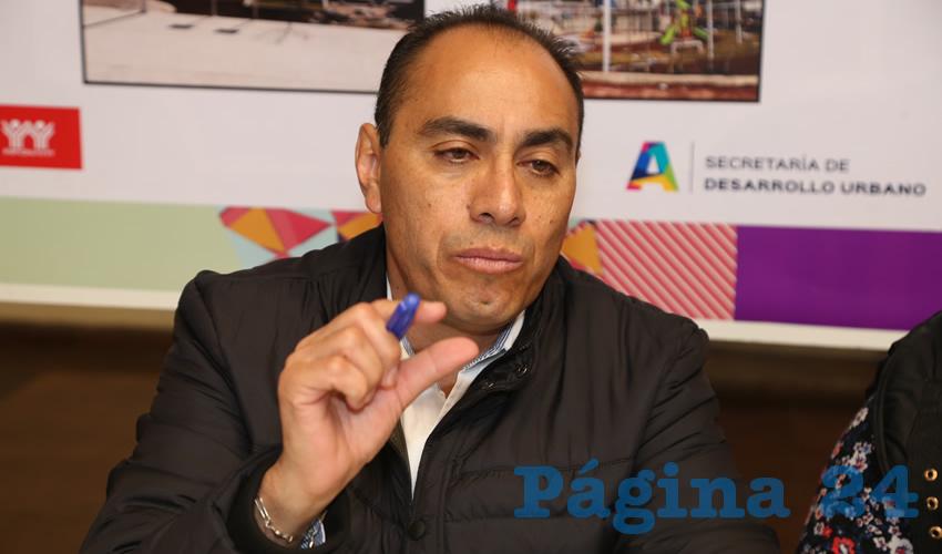 Adrián Castillo Serna, titular de la Sedum (Foto: Eddylberto Luévano Santillán)