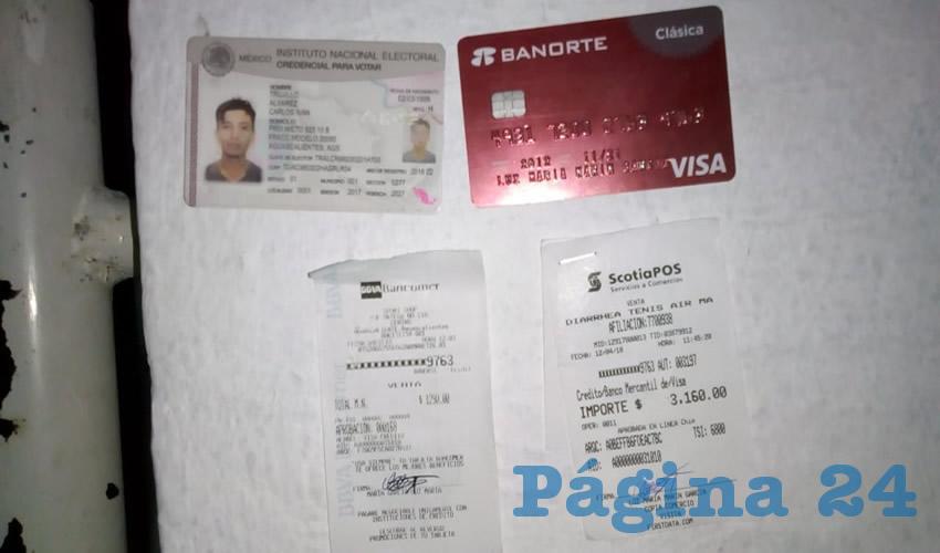 """La tarjeta y la credencial que utilizaba Alan Diego """"N"""" """"N"""""""