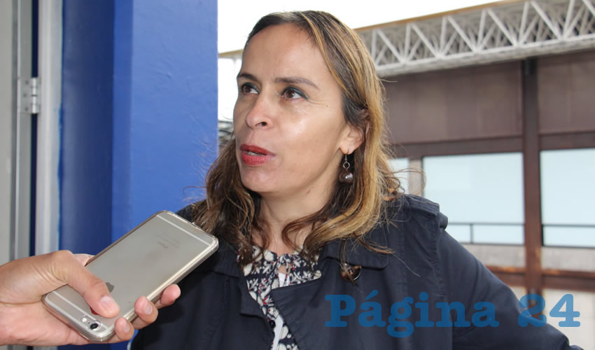Imelda Ortiz Medina, directora de la Unidad Académica de Economía de la Universidad Autónoma de Zacatecas (UAZ) (Foto Merari Martínez)