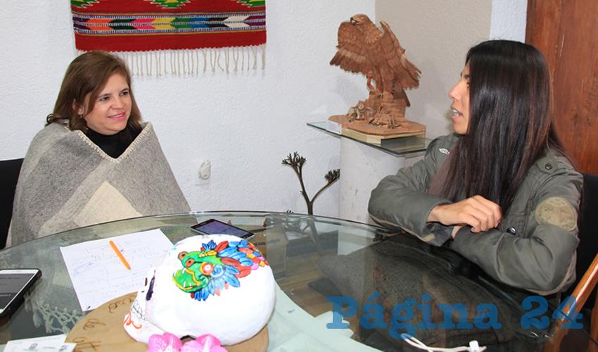 Elvira Campos Álvarez, titular de la Subsecretaría de Desarrollo Artesanal (Foto Rocío Castro)