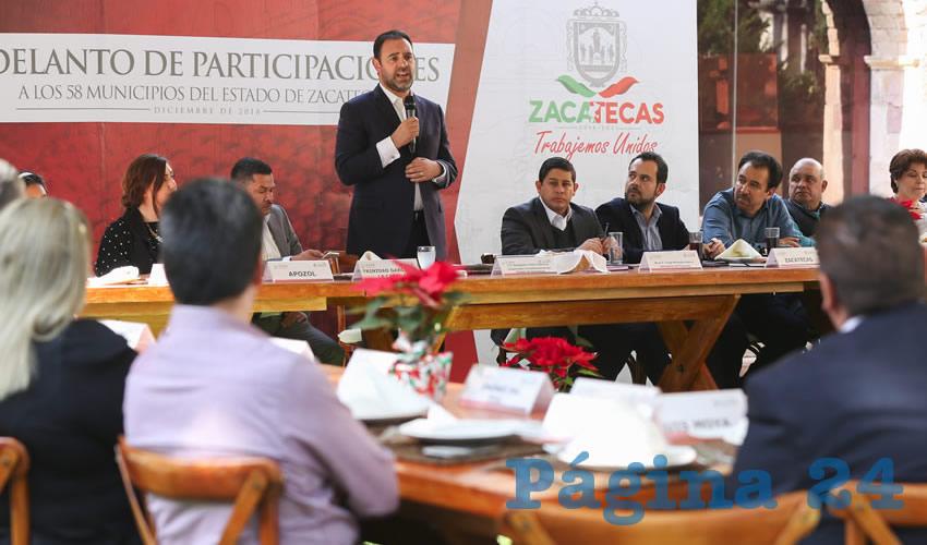 Adelanta Gobernador a 49 municipios casi 300 mdp por concepto de participaciones federales y fondo de estabilización financiera