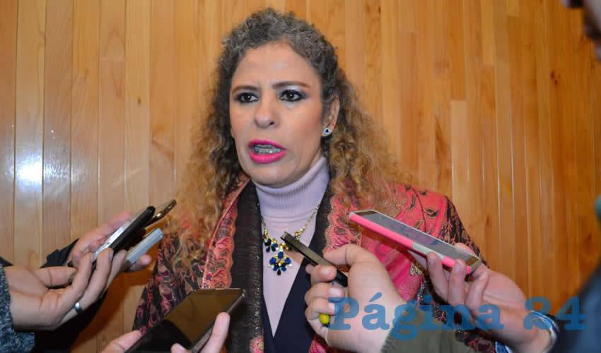 La titular de la Secretaría de la Función Pública (SFP), Paula Rey Ortiz Medina (Foto: Merari Martínez)