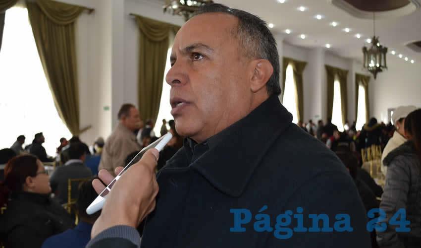 Cliserio del Real Hernández, subsecretario del Servicio Nacional de Empleo (Foto Merari Martínez)