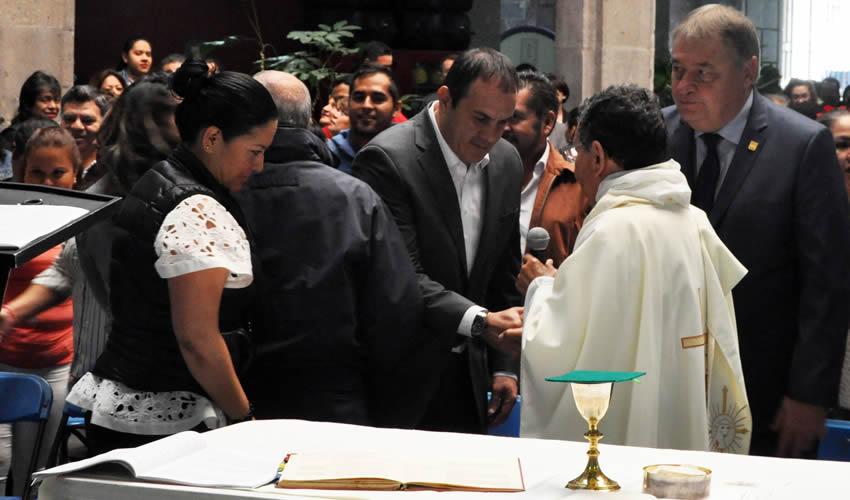 Denuncian Ante Segob a Cuauhtémoc  Blanco por Misa en Palacio de Gobierno