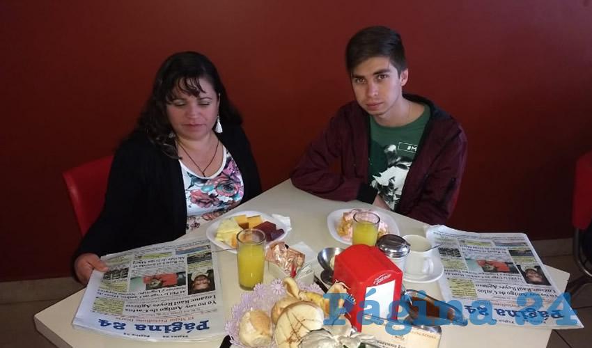 En el restaurante Mitla desayunaron Martha Elvia Martínez y Miguel Ruvalcaba