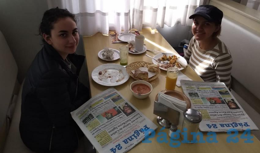 Itzel Vega y Natalia Armas compartieron el pan y la sal en el restaurante Del Centro