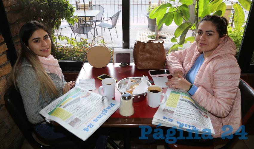 En Las Antorchas almorzaron Vanessa Terraza Gerardo y Maricela Terraza Gerardo