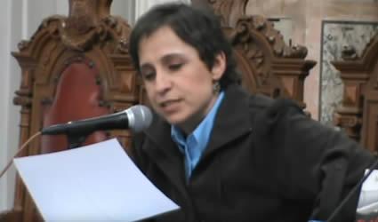 """Carmen Aristegui y Ana Lilia Perez en la Presentacion del Libro """"El Cartel Negro"""""""