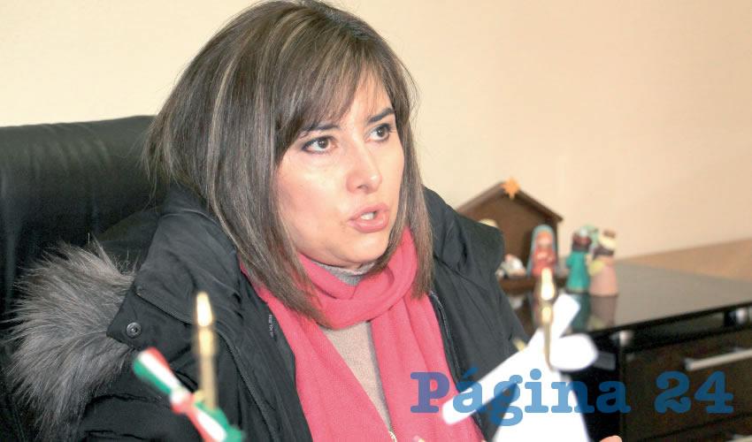 Esmeralda Barrón Venegas, directora de Atención Ciudadana y Audiencia del Gobierno del Estado de Zacatecas (Foto Rocío Castro Alvarado)