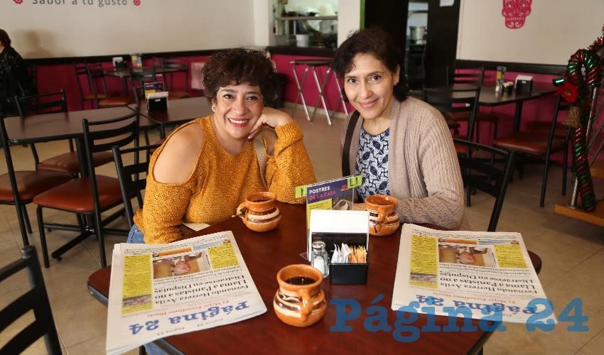 En restaurante La Madero compartieron el pan y la sal las hermanas Aurora Sánchez Barba y Sandra Sánchez Barba
