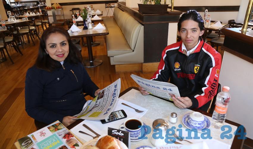 Monserrat Navarro Martínez y Roberto Carlos Leyva Cortez compartieron el pan y la sal en Sanborns Francia