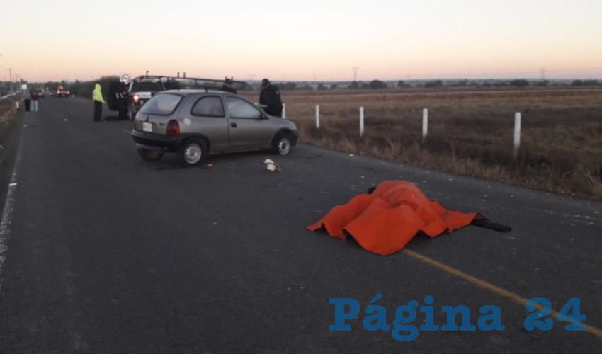 Nicolas Medina Zamora fue atropellado por un auto en una carretera de El Llano