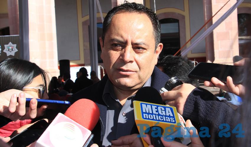 Antonio Caldera Alanís, titular de la dirección de Protección Civil Estatal (Foto Rocío Castro)