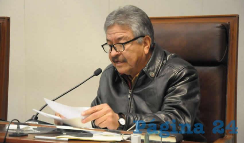 Jesús Padilla Estrada, diputado local de Movimiento de Regeneración Nacional (Morena) (Foto Rocío Castro Alvarado)