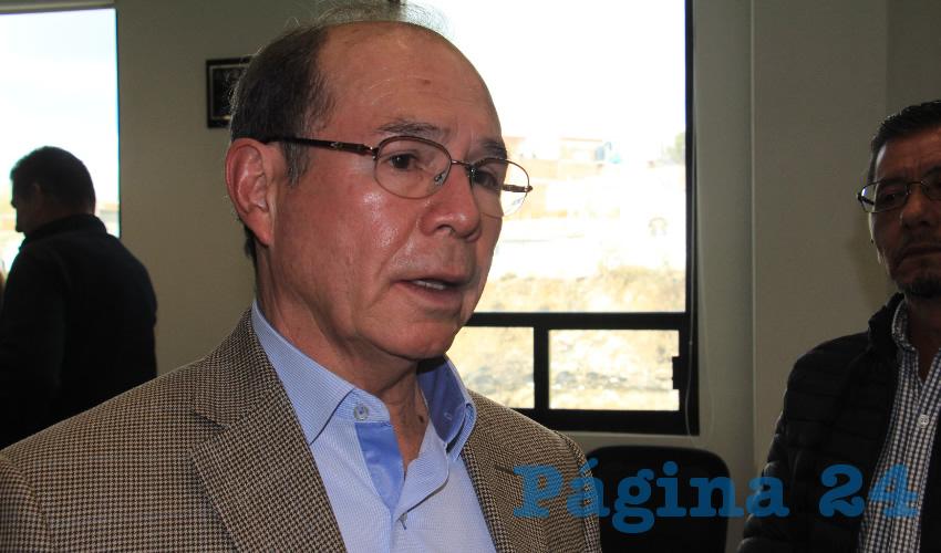 Benjamín de León Mojarro, director de la Junta Intermunicipal de Agua Potable y Alcantarillado de Zacatecas (Foto Rocío Castro)