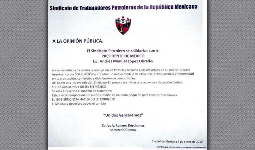 Carlos Romero Deschamps ... sin comentarios...