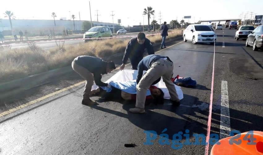 El fatal percance ocurrió sobre la carretera federal 45 norte, frente al Parque Industrial San Francisco.