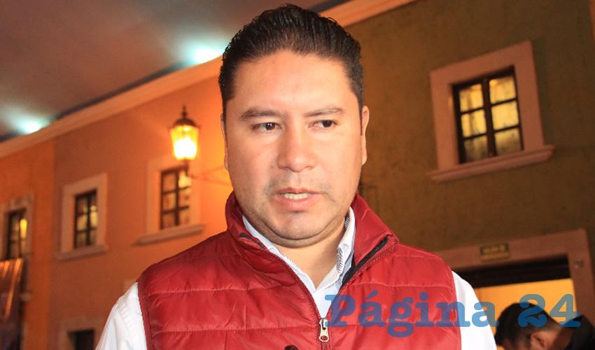 Iván de Santiago Beltrán, titular de la Secretaría de Desarrollo Social del ayuntamiento capitalino (Foto Rocío Castro)