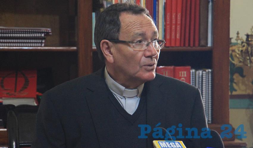 Sigifredo Noriega Barceló, obispo de la Diócesis de Zacatecas (Foto Rocío Castro Alvarado)
