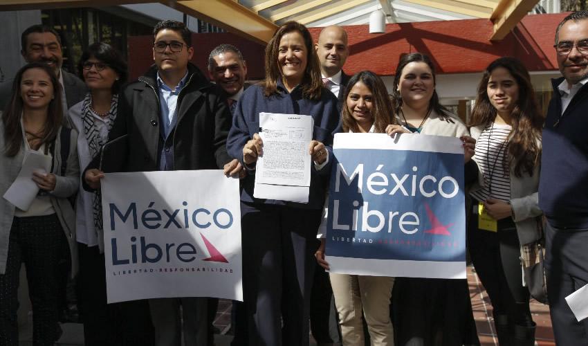 """Solicitan Zavala y Calderón Ante el INE  el Registro del Partido """"México Libre"""""""