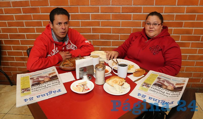 En Las Antorchas almorzaron Juan Manuel Jaco Castillo y Sara Navarro Torres