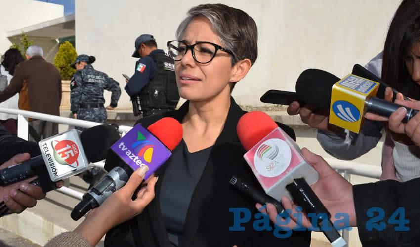 Fátima Encina Arroyo, detalló que en todos los casos donde se reporta la muerte violenta de una mujer, se aplica el protocolo de feminicidios, como parte de un derecho de la víctima (Foto: Merari Martínez)