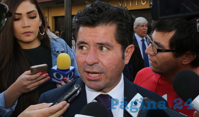 Jorge López Martín, presidente del PFNSM (Foto: Eddylberto Luévano Santillán)