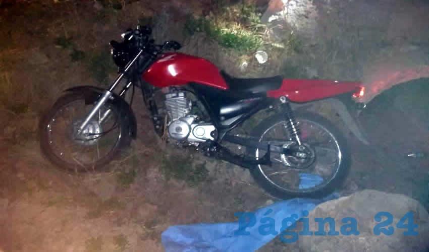 La motocicleta Honda que utilizaba para cometer atracos sucesivos