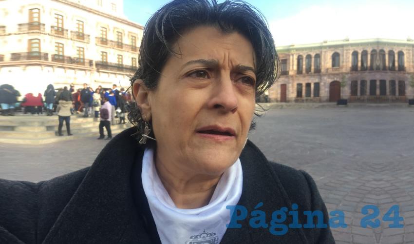 Gema Alejandrina Mercado Sánchez, titular de la Secretaría de Educación de Zacatecas (Seduzac) (Foto Cristo González)
