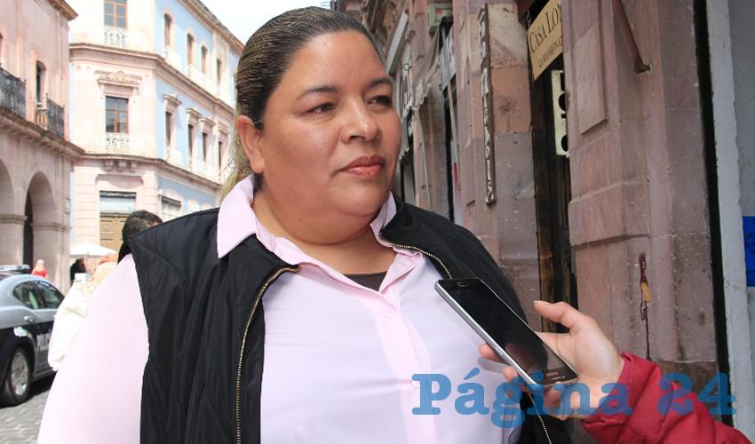 Victoriana Espinoza Sánchez, presidenta municipal de Jiménez del Teul (Foto Rocío Castro)