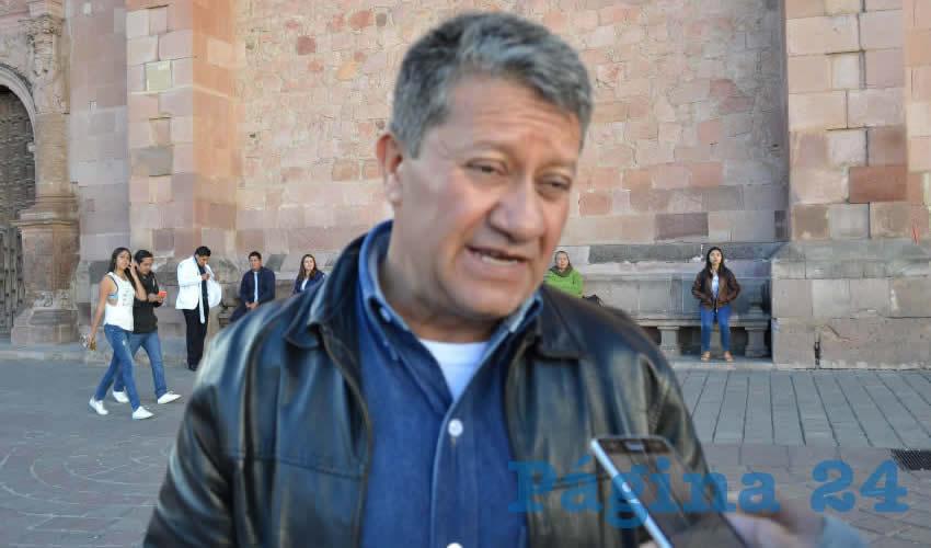 Jaime Cruz Talamantes, jefe de Limpia del ayuntamiento capitalino (Foto Archivo Página 24)