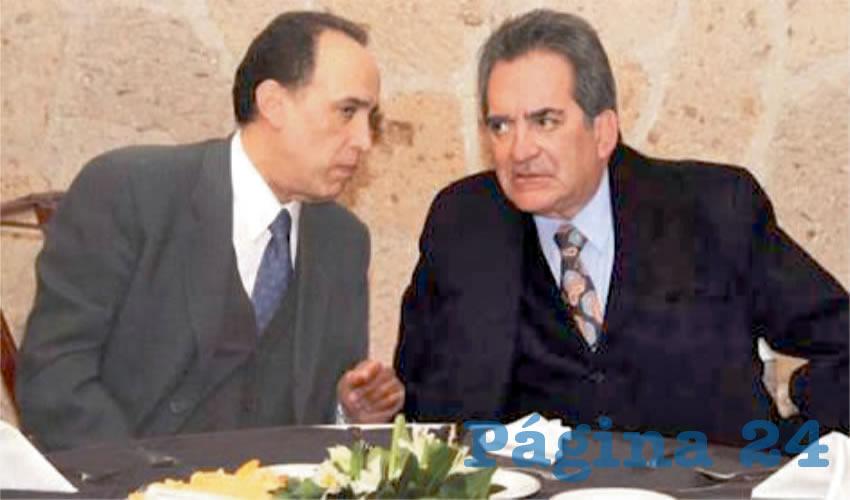 Felipe Muñoz Vázquez, exprocurador General de Justicia de Aguascalientes, con su jefe Carlos Lozano de la Torre, exgobernador de Aguascalientes: Aquellos tiempos de represión y traición