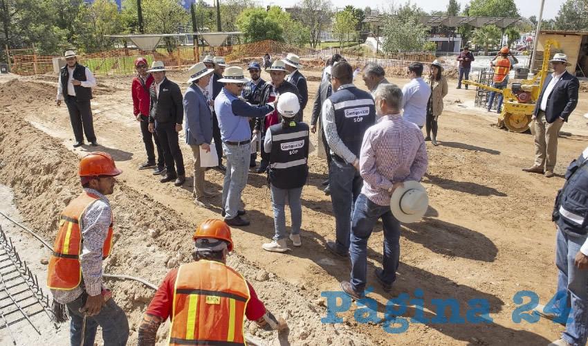 El gobernador del Estado encabezó una gira de supervisión de las obras de rehabilitación y modernización de las instalaciones de la Feria Nacional de San Marcos