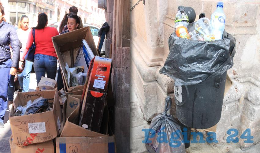 Ante esta situación es que el gobierno municipal ha informado a la ciudadanía para que evite dejar la basura en la vía pública, de lo contrario, se harán acreedores a una sanción económica (Foto Rocío Castro Alvarado)