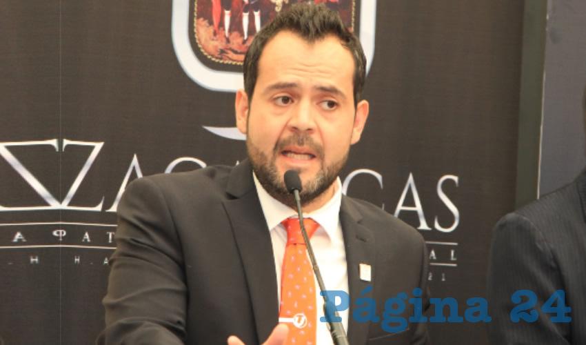 Ulises Mejía Haro, presidente municipal de Zacatecas (Foto Rocío Castro)