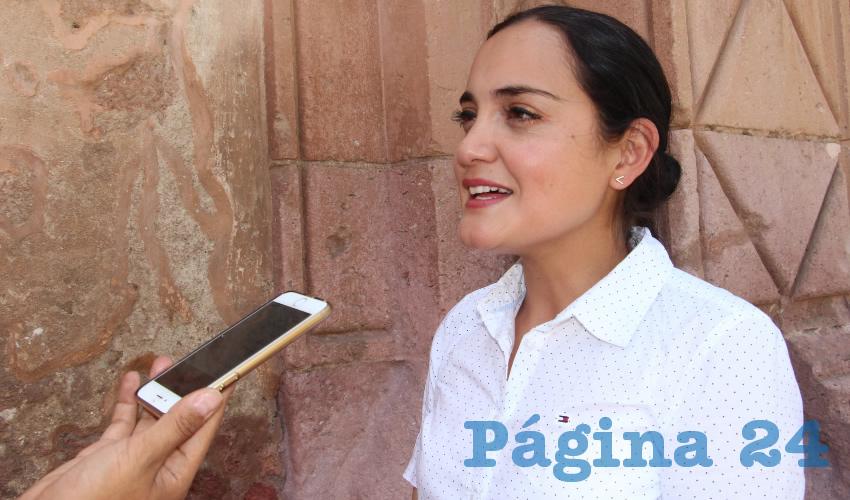 Rocío Aguilar Borjón, vocera de la Secretaría de Seguridad Pública (SSP) en Zacatecas (Foto Rocío Castro Alvarado)