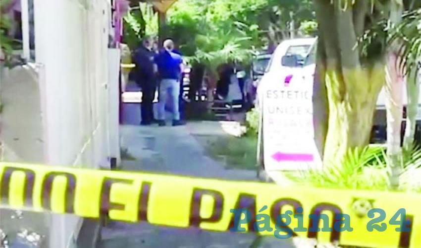 Una joven pareja fue ejecutada en la calle de Dionisio Rodríguez a su cruce con Jardines de Tívoli, de la colonia Jardines de San Francisco/Foto: Cortesía
