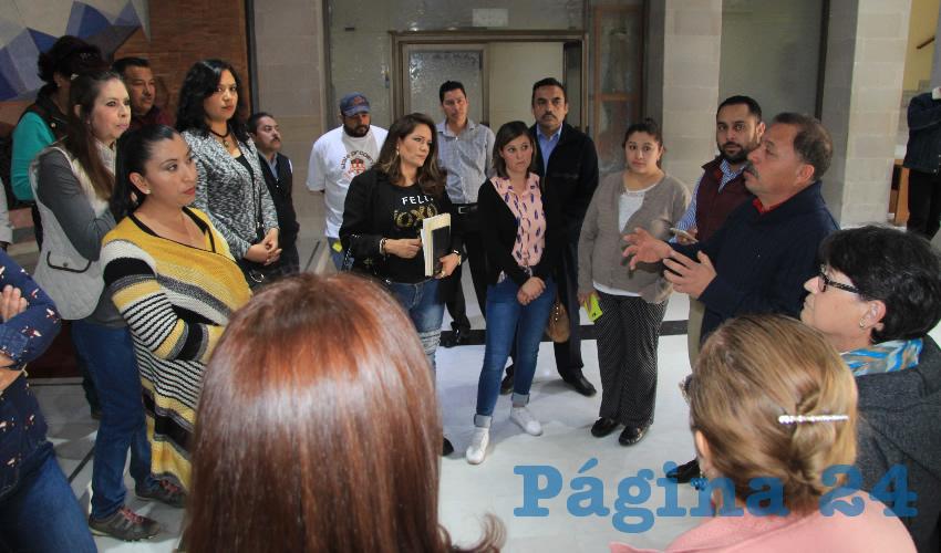 Rogelio Álvarez subrayó que existen amenazas de despedir a 20 trabajadores más del Servicio Nacional del Empleo (Foto Rocío Castro Alvarado)