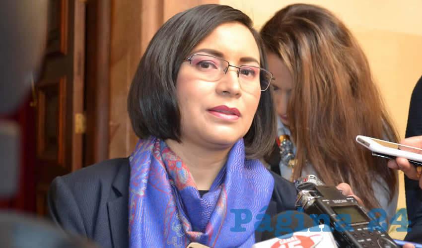 María de la Luz Domínguez Campos, titular de la Comisión de Derechos Humanos del Estado de Zacatecas (CDHEZ) (Foto Merari Martínez)