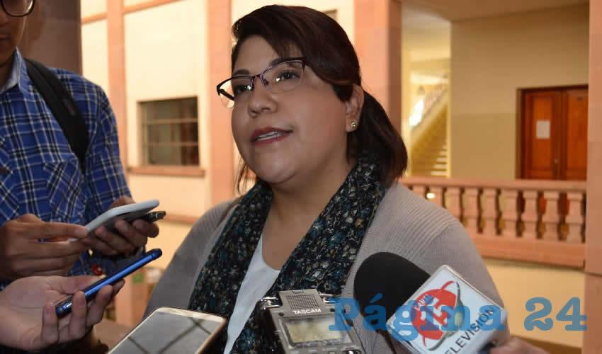 Irma Cristina Maldonado López, jefa del Departamento de Escuelas Normales de la Secretaría de Educación de Zacatecas (Seduzac) (Foto Merari Martínez)