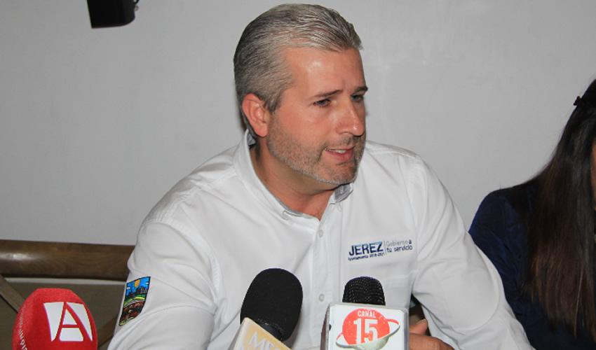 Antonio Aceves Sánchez, presidente municipal de Jerez (Foto Rocío Castro)
