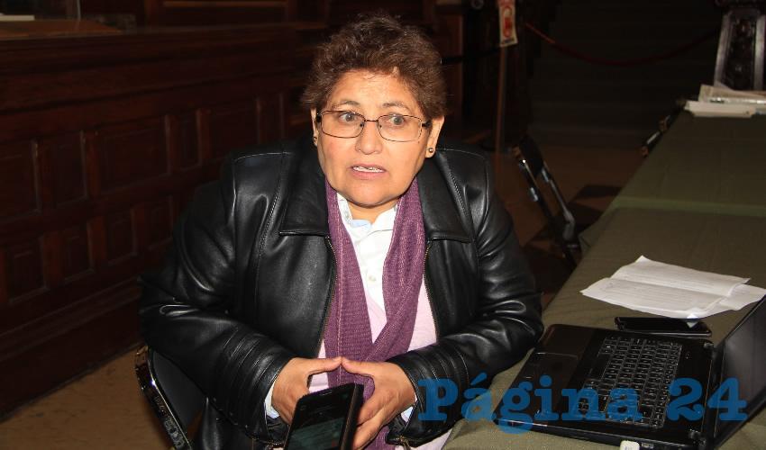 María Elena Ortega Cortés, integrante del Partido de la Revolución Democrática (PRD) y de diversas organizaciones en defensa de los derechos humanos (Foto Rocío Castro Alvarado)