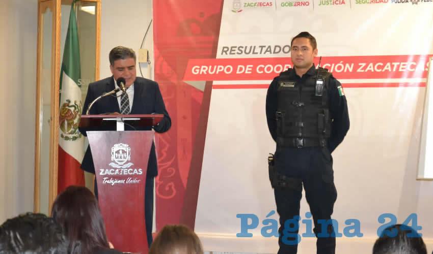 Ismael Camberos Hernández, secretario de Seguridad Pública estatal (Foto Merari Martínez)