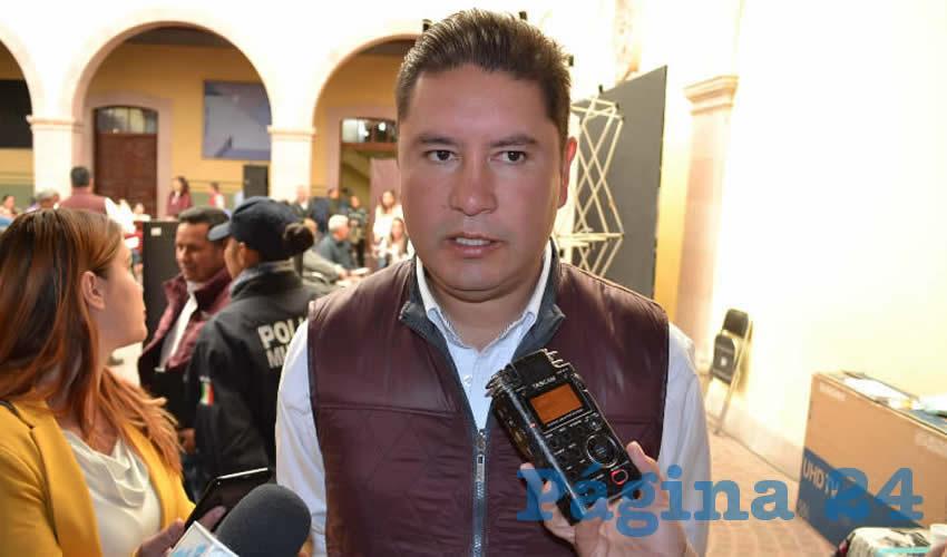 Iván de Santiago Beltrán, titular de la Secretaría de Desarrollo Social del ayuntamiento de Zacatecas (Foto Merari Martínez)