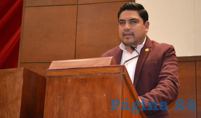José Dolores Hernández Escareño, diputado local del Partido del Trabajo (PT) (Foto Merari Martínez Castro)