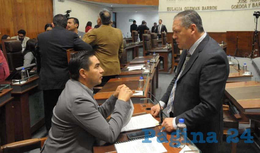 La sesión ordinaria del Congreso del Estado fue suspendida porque no se contaba con el número de diputados establecidos en las leyes y reglamentos, que estipulan tienen que ser la mitad más uno, es decir 16 de los 30 legisladores (Foto Rocío Castro Alvarado)