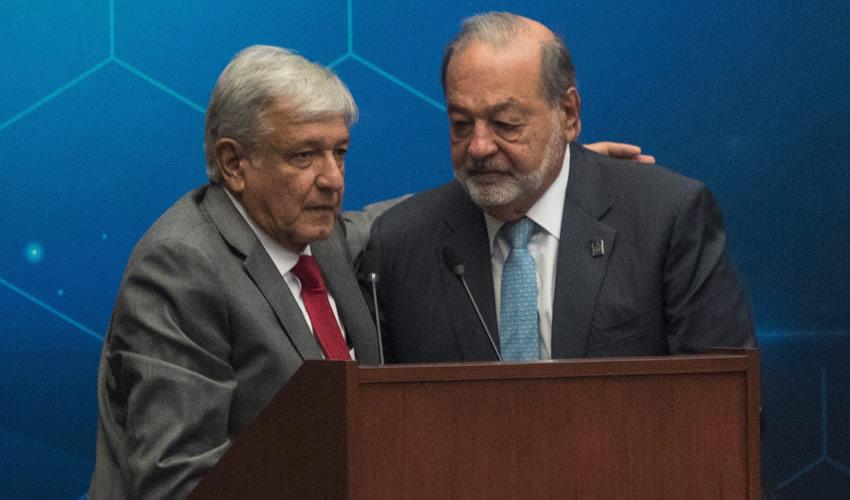 El empresario Carlos Slim confió en el proyecto económico del presidente Andrés Manuel López Obrador (Foto: Misael Valtierra/Archivo/Cuartoscuro)