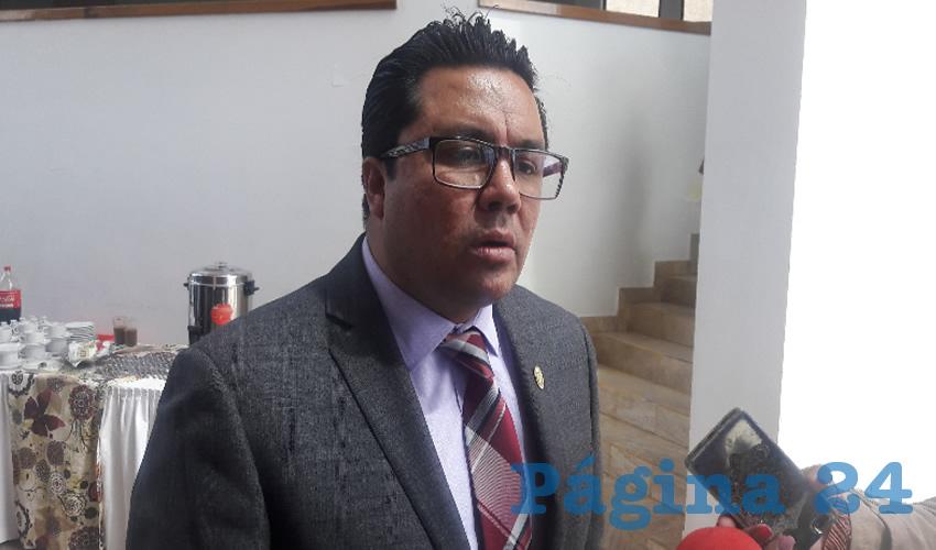Omar Carrera Pérez, diputado local de Movimiento Regeneración Nacional (Morena), señaló que tiene confianza de que finalmente hoy sea electa la persona que ocupará el cargo de comisionado del Instituto Zacatecano de Acceso a la Información y Protección de Datos Personales (IZAI) (Foto Rocío Castro Alvarado)