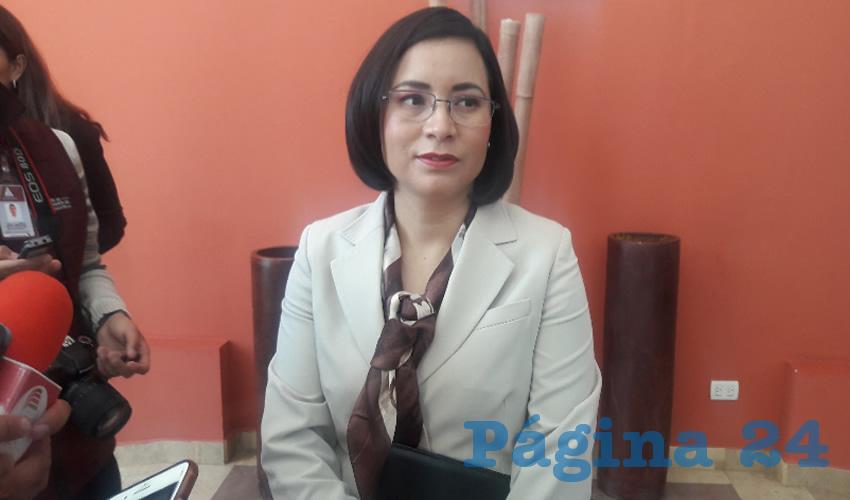 María de la Luz Domínguez Campos, titular de la Comisión de Derechos Humanos del Estado de Zacatecas (CDHEZ) (Foto Rocío Castro Alvarado)