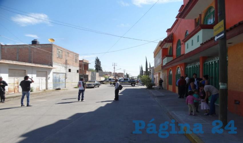 El asesinato ocurrió en la calle Pegueros, entre avenida Abelardo L. Rodríguez y calle Ameca